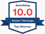 Damien Munsinger Avvo Rating 10.0