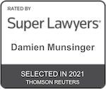 Damien Munsinger rated by Super Lawyers 2021